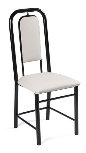 silla caño española jr amoblamientos tapizado  x 6
