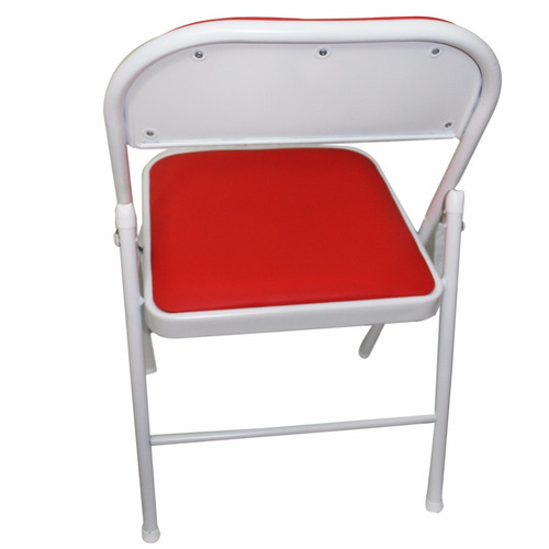 silla caño plegable tapizado rojo modelo 80024