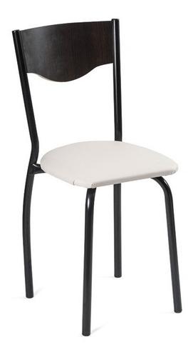 silla caño terra jr amoblamientos tapizado 6 cant.