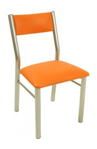 silla caño unicam aldana naranja