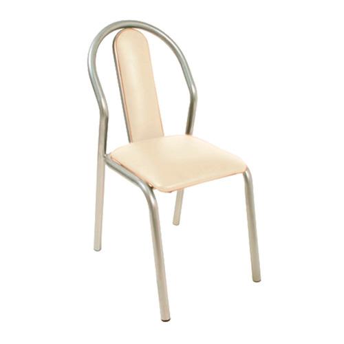 silla caño unicam america tapizado hueso
