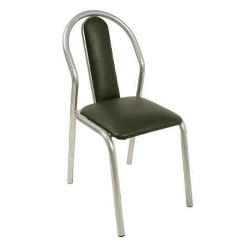 silla caño unicam america tapizado negro