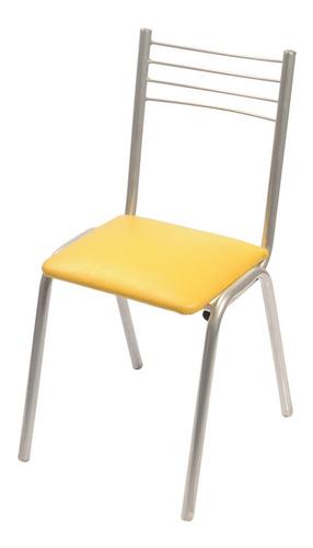 silla caño unicam apilable tapizado color maiz