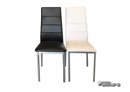 silla capri  caño tapizada en ecocuero comedor