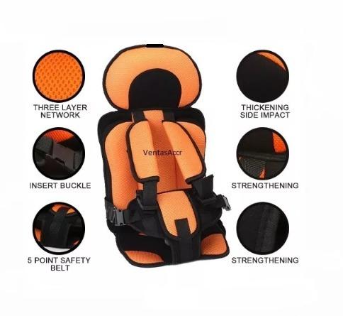 silla carro bebe naranja asiento de 0- 6 niño unisex w01