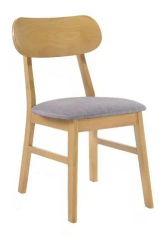 silla cherlyn claire norway escandinavo nordico de madera x1