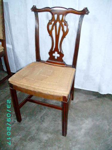 silla chippendalle pata recta rulo