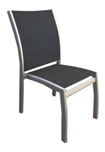 silla classic - aluminio y textilene - blanca o negra