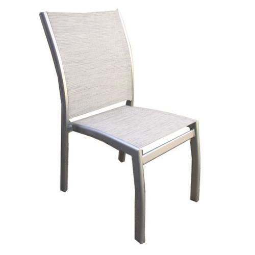 silla classic blanca - aluminio y textilene