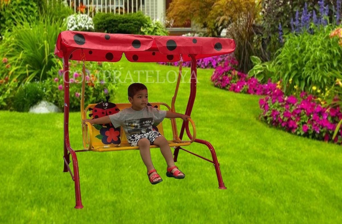 Silla Columpio Infantil Terraza Jardin 105x 70 X 110 Cm
