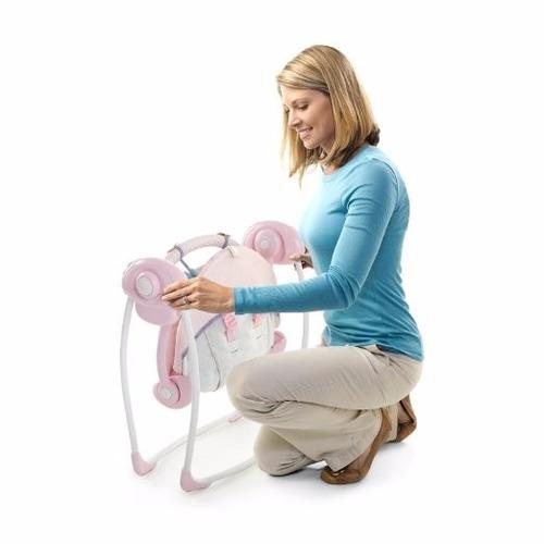 silla columpio para bebes rosado - importado