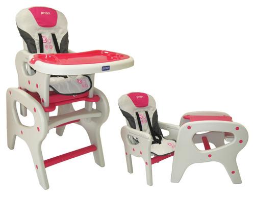 silla comedor alta escritorio 2 en 1 para bebé marca priori