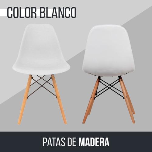 silla comedor eames f901000 patas de madera env **10