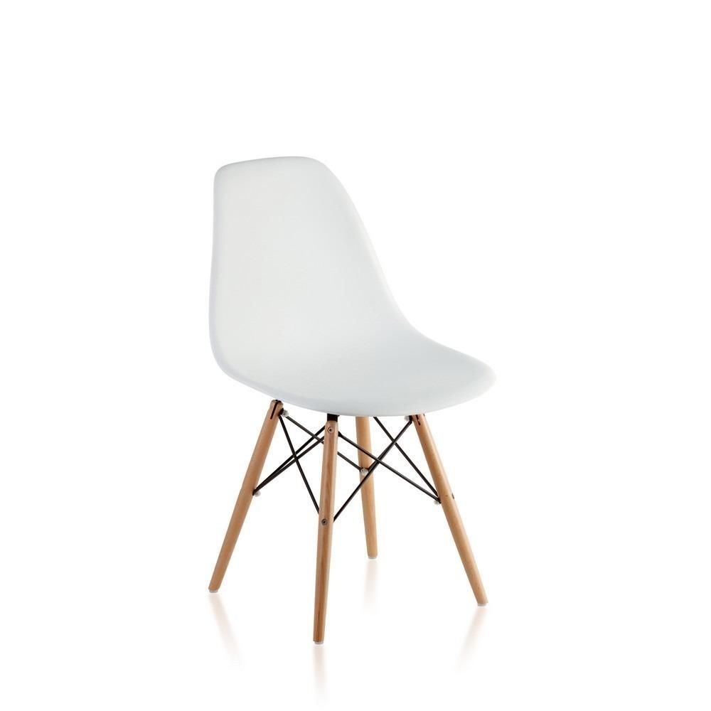 Silla Comedor Eames Madera Moderna Diseño Blanca Lhcuotas - $ 1.299 ...