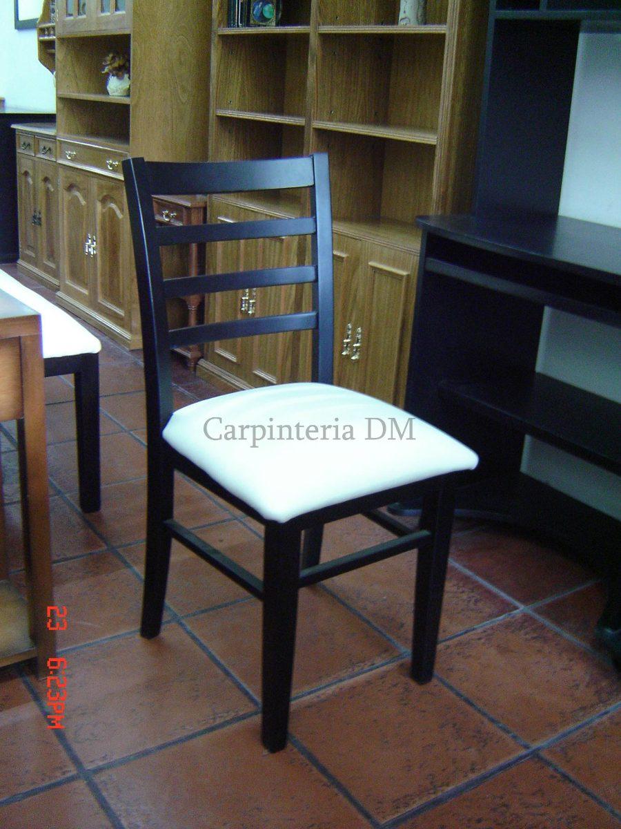 Sillas comedor tapizadas tela silla de comedor tapizada for Sillas de comedor de madera tapizadas
