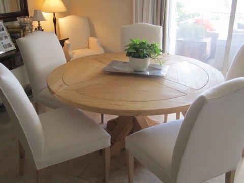 silla comedor madera forradas tela lana c u 7