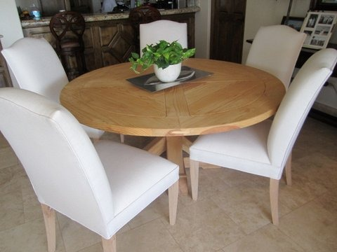 Silla comedor madera forradas tela lana c u 7 for Sillas de madera modernas para cocina