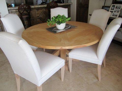Silla comedor madera forradas tela lana c u 7 - Mesas redondas modernas ...