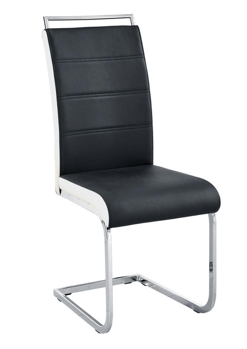 silla comedor pata cromada