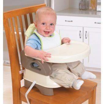 silla comedor portatil portable bebe 2 alturas rosada azul