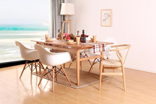 silla comedor tipo eames butaca blanca , cerámicas castro