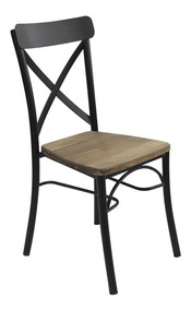 Madera Vintage Nga Rustic Industrial Comedor Metálica Silla rxeWQdCBo