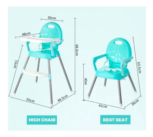 silla comer bebe booster alta portatil rooby 3 en 1 colores