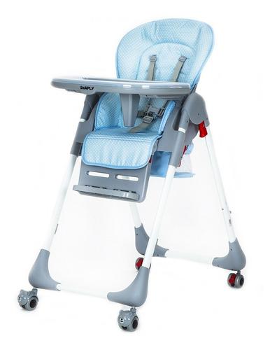 silla comer bebe snack snaply c ruedas 2 bandejas 3 alturas