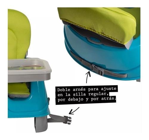silla comer booster tapizado bebe plegable 2 alturas ok baby