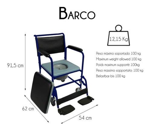 silla comodo con 4 ruedas marca medical store envio grat