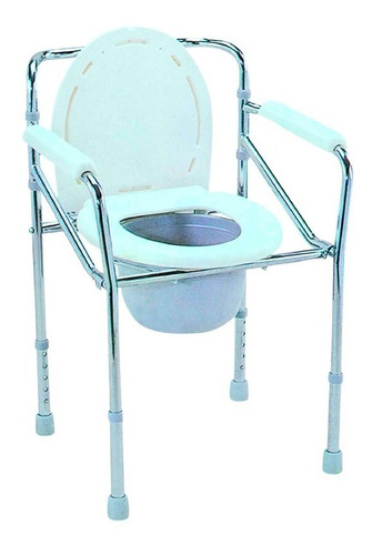 silla comodo de acero fijo, cromado y plegable