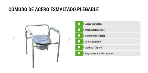silla comodo de acero plegable