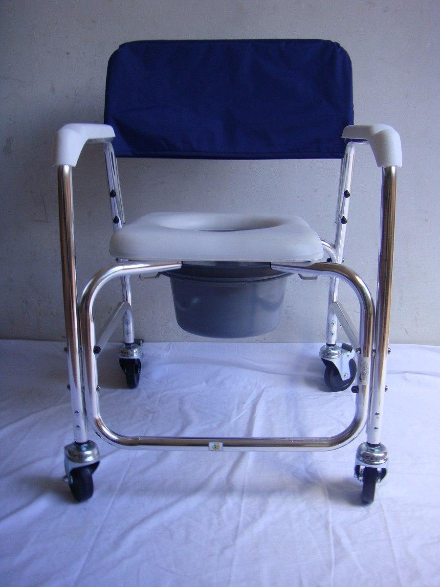 Silla c modo ducha de aluminio con ruedas desarmable 2 en mercado libre - Silla de ducha ...