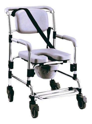silla cómodo ducha reactiv de aluminio, de lujo con ruedas.