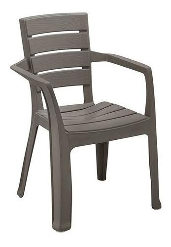 silla con brazos apariencia madera rimax 11698 -café