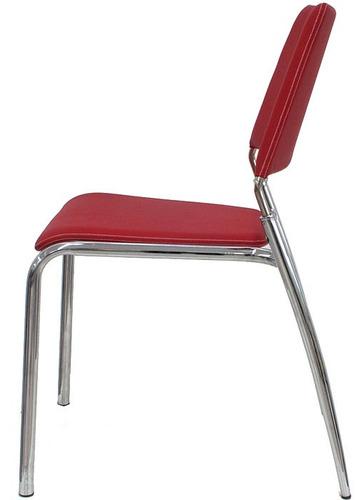 silla cromada/tapizada firenze - desillas