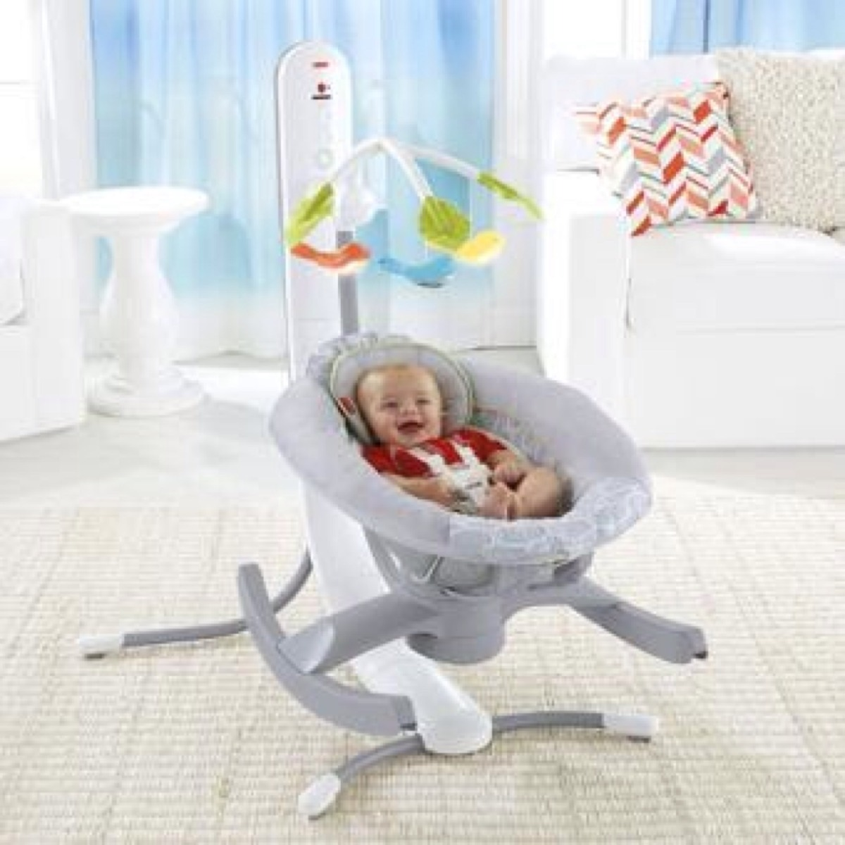 214cb859c silla cuna mecedora fisher price 4 en 1 smart connect gris. Cargando zoom.