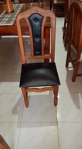 silla de algarrobo tapizada x6 unidades envió gratis