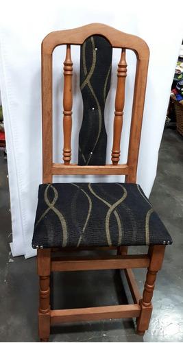 silla de algarrobo tapizada x8 unidades