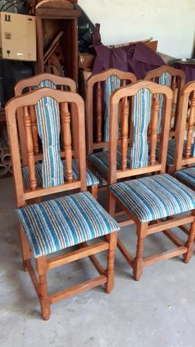 silla de algarrobo tapizadas x 8 unidades. consulte envío