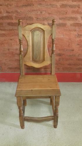 silla de algarrobo terminada x 8
