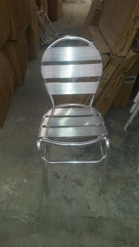 silla de aluminio p/ bares, cafeterías o restaurantes ya-206