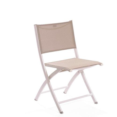 silla de aluminio plegable zeus color champagne