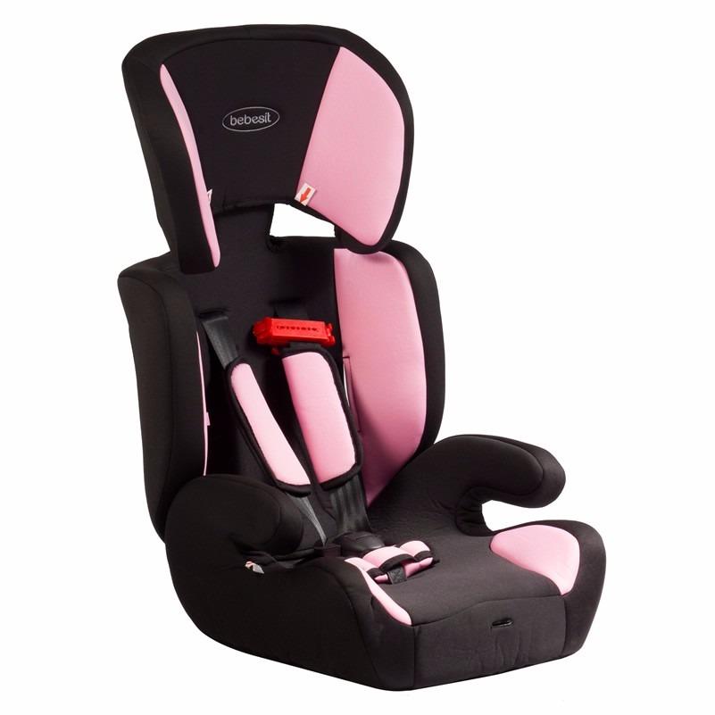 Silla de auto taurus rosada bebesit en mercado for Alzador para auto