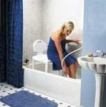 silla de baño, alta resistencia 190 kgs ajustable  carex-usa