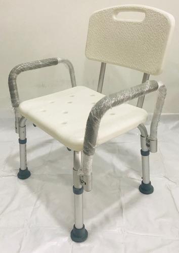 silla de baño con espaldar y apoyabrazos para ducha ¡nueva!