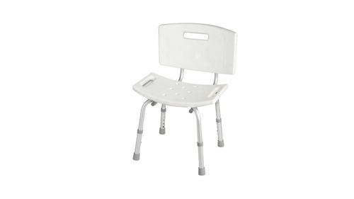 silla de baño con respaldo