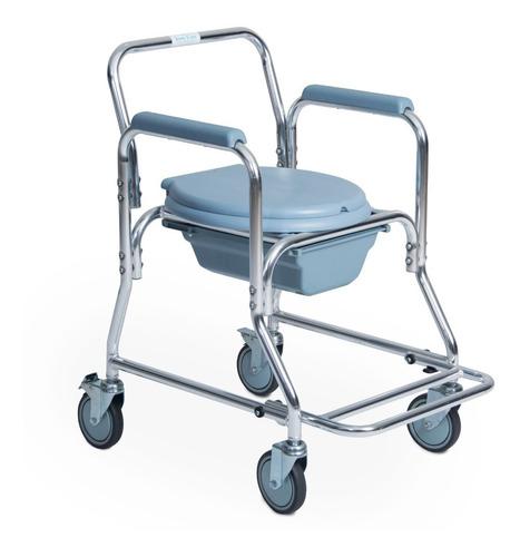 silla de baño silla pato ayuda sanitaria aluminio y ruedas