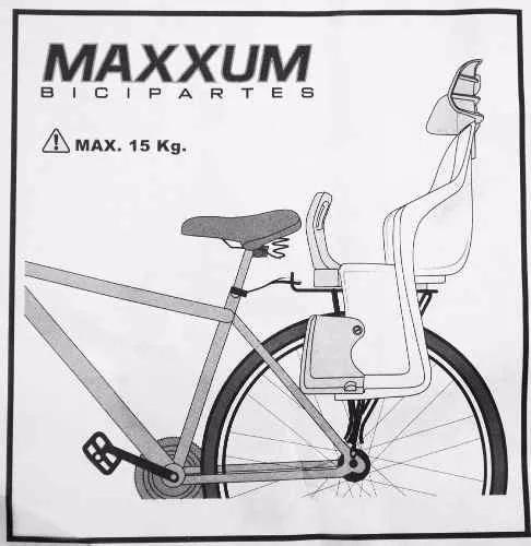 silla de bebe bicicleta maxxum reforzada colores - racer bikes