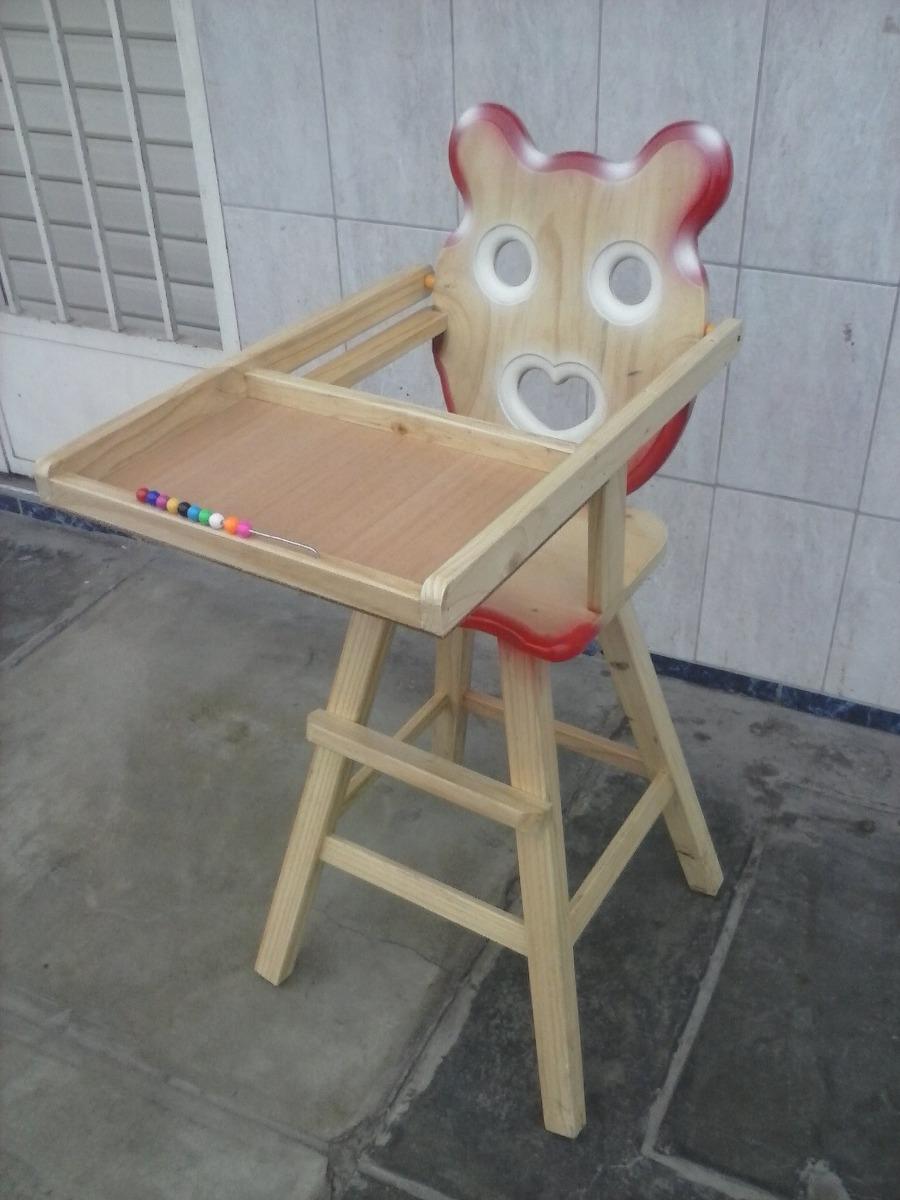 Silla de bebe madera madera pino nuevo movilidad for Silla de bebe de madera